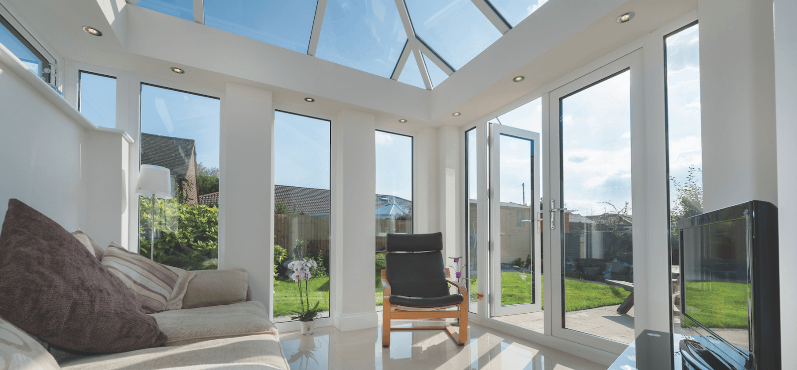 Interior of furnished conservatory