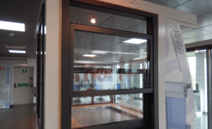 Black sliding sash window