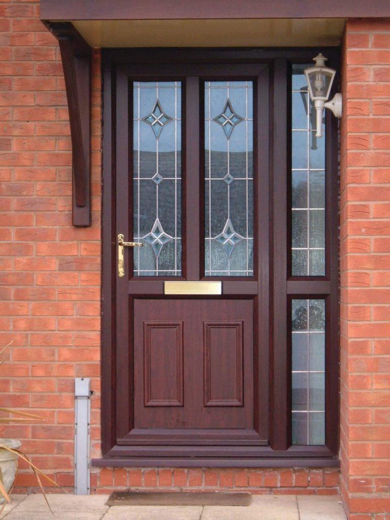 Brown uPVC front door