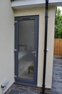 Grey back door