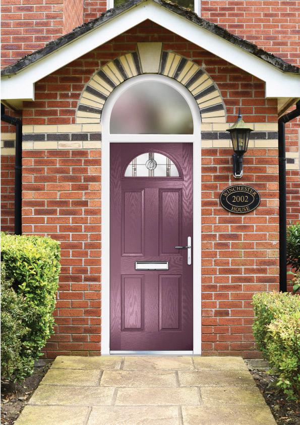 Purple composite door