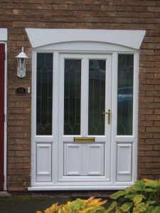 White entrance door